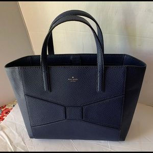 Kate spade new purse/Tote navy Leather